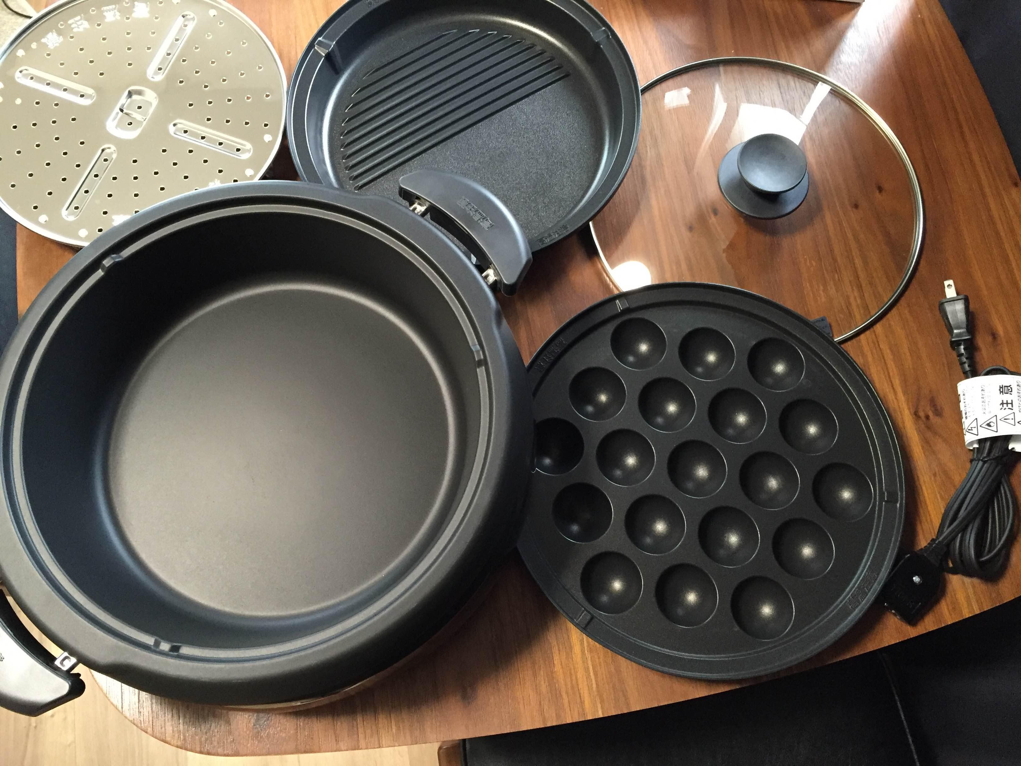 タイガーグリル鍋3.7Lプレート3枚タイプ