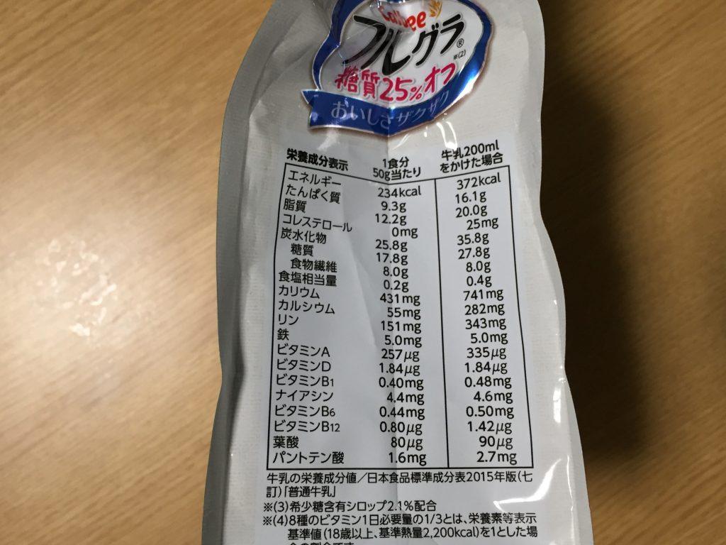 フルグラ糖質25%オフ