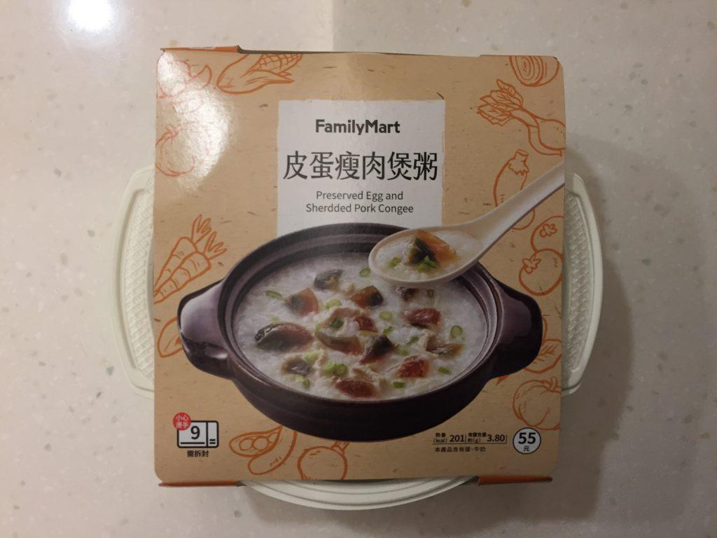 台湾 ファミリーマート ピータン粥
