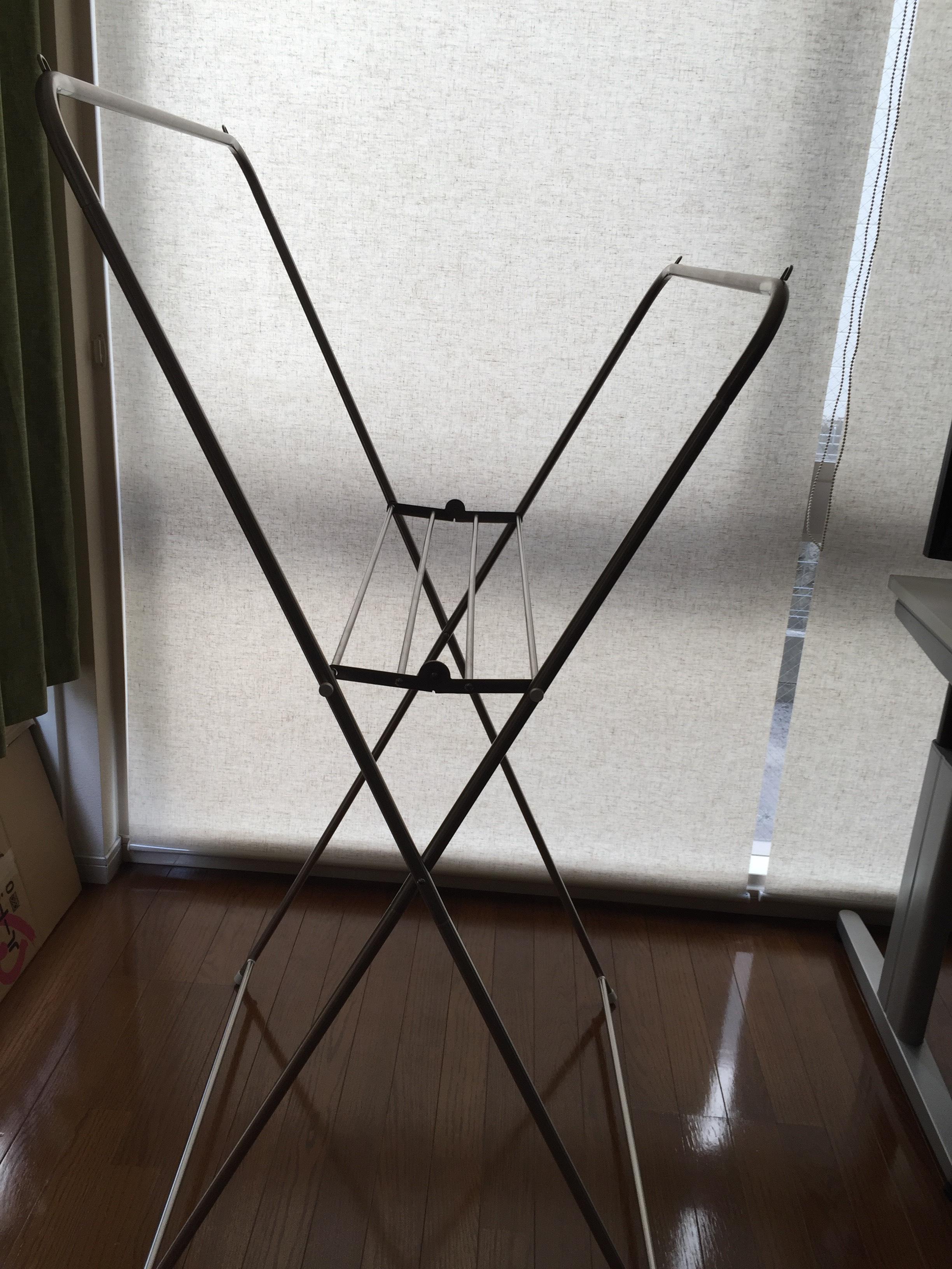ニトリ X型物干し オールステンレス