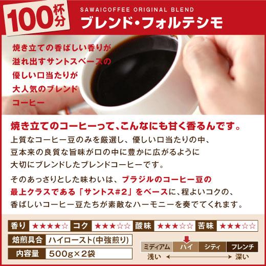 澤井珈琲 コーヒー豆 ブレンドフォルテッシモ